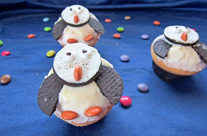 Rezept: Pinguin-Muffins backen
